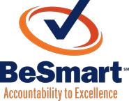 UVA BeSmart logo (blue check mark within orange circle), Accountability to Excellence