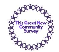 The Great Community Survey logo