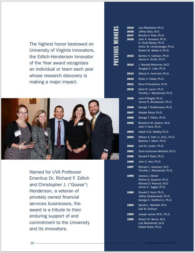 Celebrating Impact Through Innovation, UVA PVG