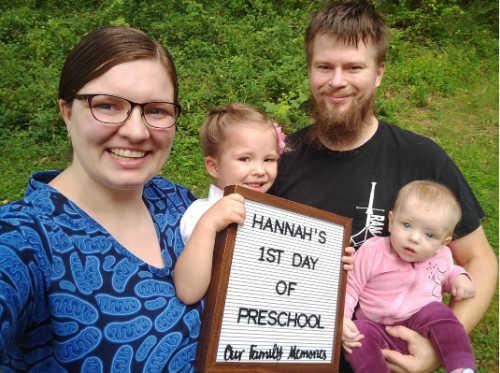 Roza Przanowska and family