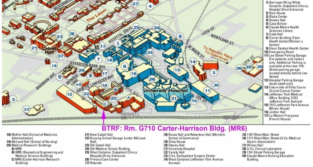 BRTF UVA hospital map
