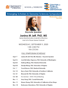 Emerging Scholars in Genome Sciences Symposium Schedule Image