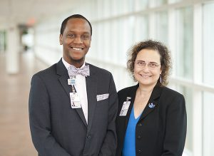 Photo: Dr. Fern Hauck and Charles Lewis