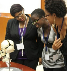 Photo: Medical Sciences Club (MSC) with Mini Med Girls