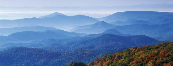 Photo: Virginia Blue Ridge Mountains from above