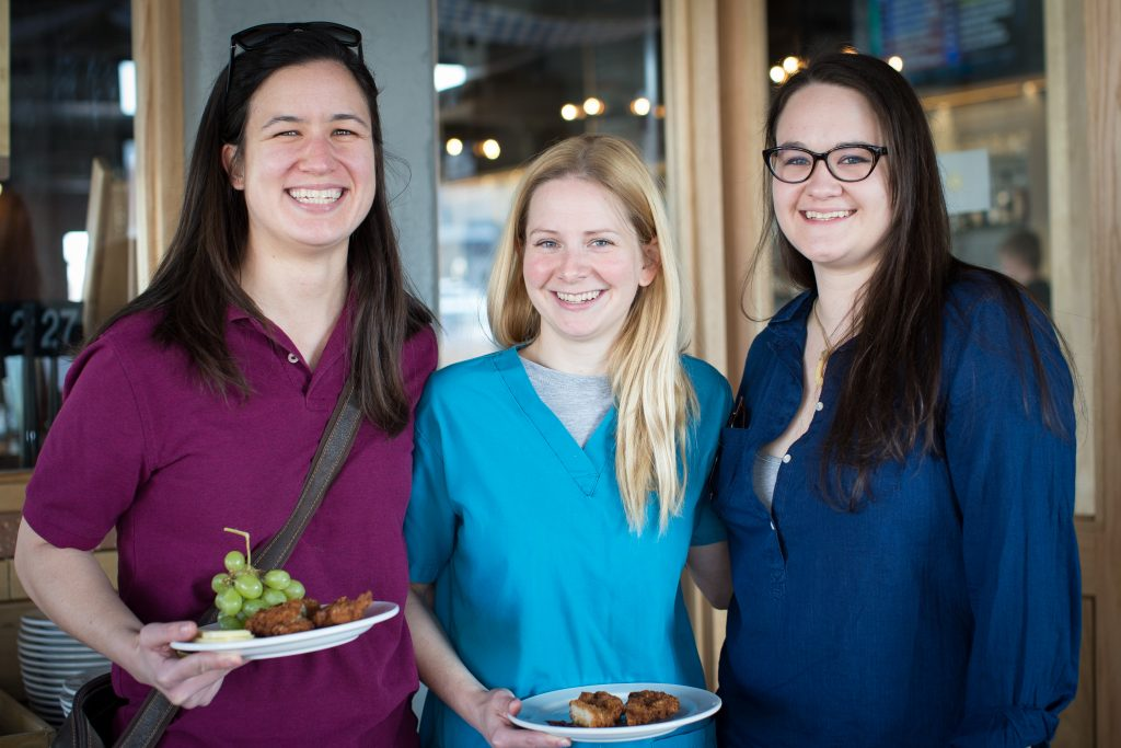 Center - Brooke Corning, GI fellow (with friend Sarah on left). Right - Ashley Desmett, Pulmonary fellow.
