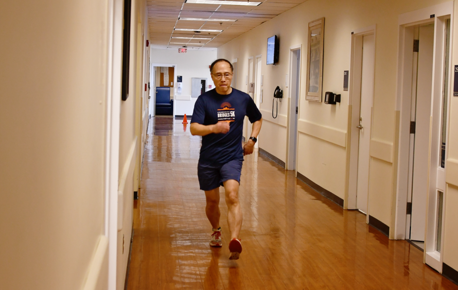 UVA Department of Medicine member participating in charity event