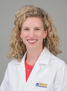 portrait of doctor Kathryn Mutter in white coat