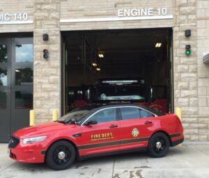 fire department car