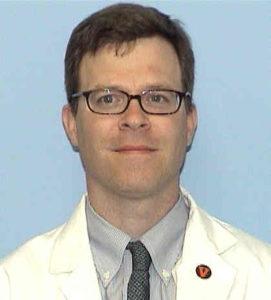 portrait of Doctor Baer in his white coat