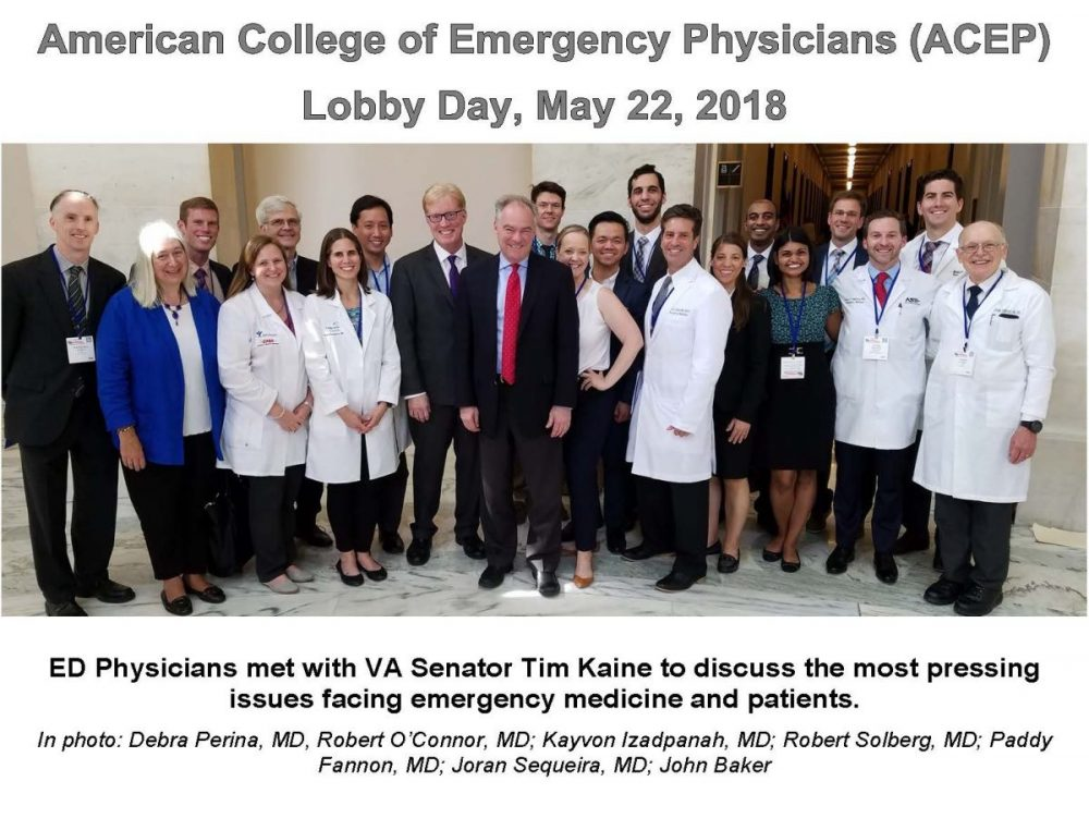 2018 ACEP Lobby Day with Sentor Kaine