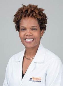 portrait of doctor Leigh Ann Webb in white coat