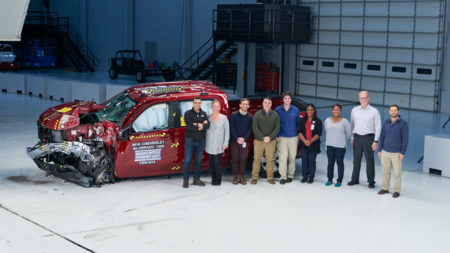 Emergency Medicine Research Office staff with Doctor O'Connor at crash test site