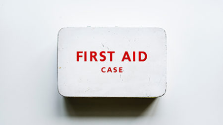 Image of a white first aid case
