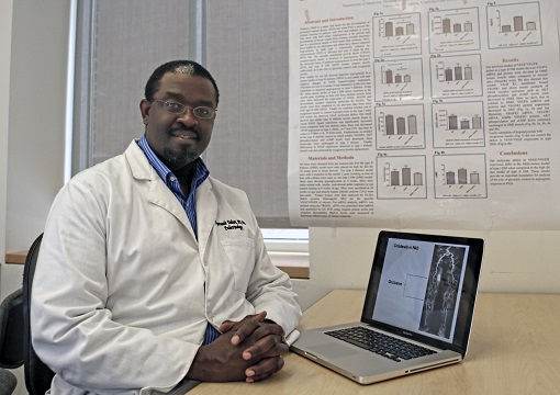 Ayotunde Dokun, MD, PhD. Dr. Dokun studies the role of genetics in peripheral arterial disease of the lower extremities.