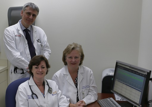 (l-r) Endo faculty Ralf Nass, MD, Jennifer Kirby, MD, Cherie Chaney, NP.