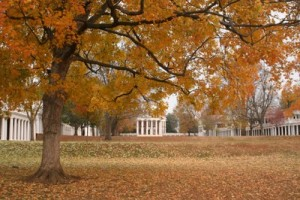 Fall on the Lawn at UVA