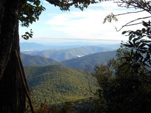 Picture of the Blue Ridge Mountains near the University of Virginia.