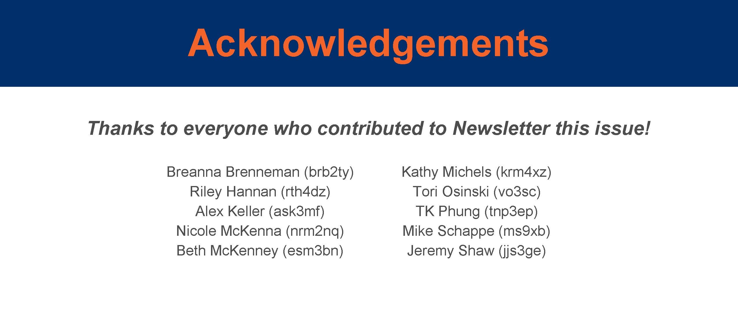 Acknowledgements 1