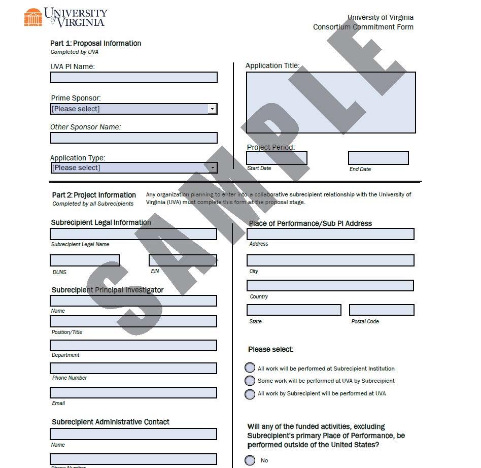 Consortium Commitment Form
