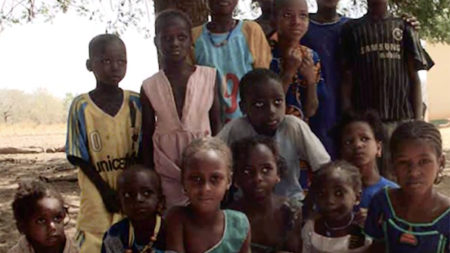 Group of African children