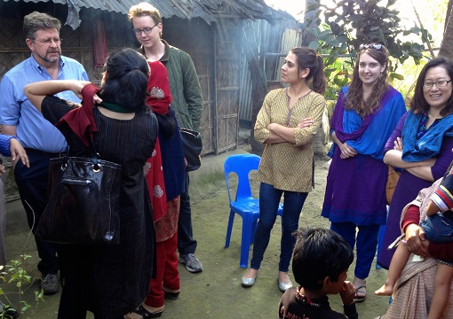 (right to left) ID's Mami Taniuchi, Allissia Gilmartin and Chelsea Marie in Bangladesh.