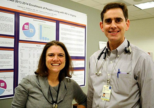 ID faculty Amy Mathers & Costi Sifri -- directors, respectively, of antimicrobial stewardship and hospital epidemiology at UVA.