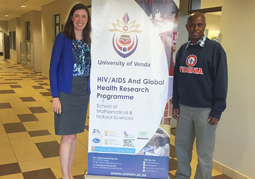 ID fellow Kate McManus meets with colleagues at the University of Venda in Limpopo Province, South Africa.