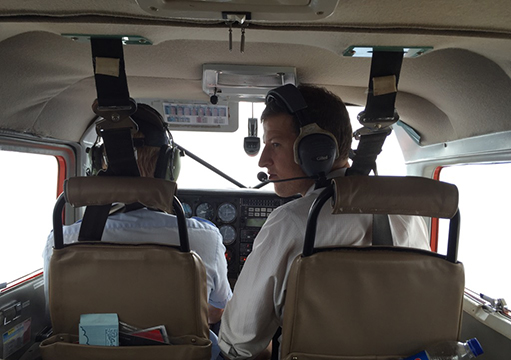 ID fellow James Platts-Mills flies across the Rift Valley in Tanzania to the UVA collaborative research site at Haydom.