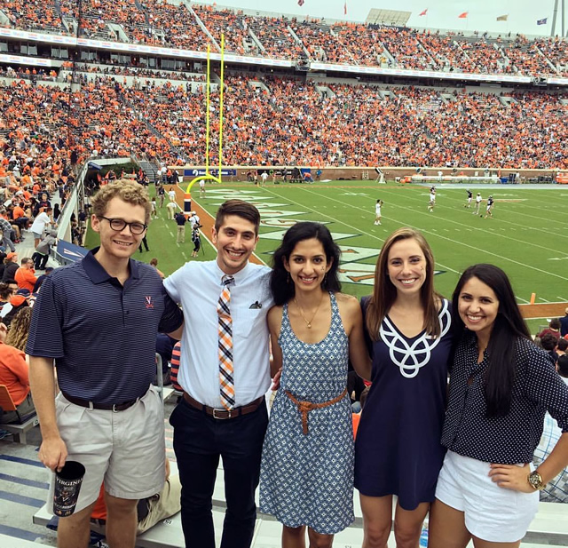 UVA Football games are a favorite weekend activity. Here are some of our interns at a recent game.