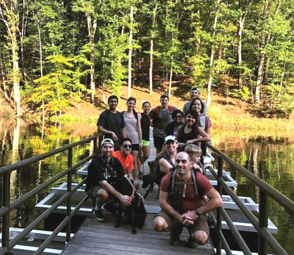 Residents on a hike photo