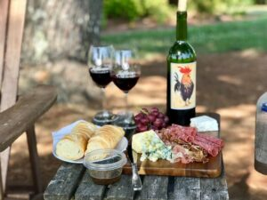 Photo of spread at a winery