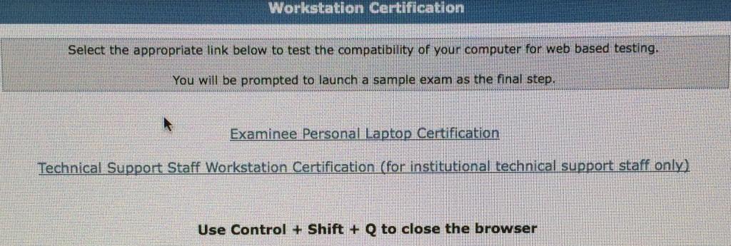Nbme Workstation Certification