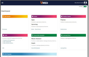 screenshot of VMED dashboard view