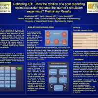 Debriefing XR: Does the addition of a post-debriefing discussion enhance the learner's simulation experience?