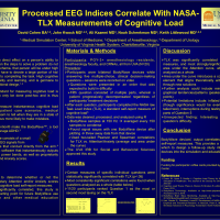 Processed EEG Indices Correlate With NASA-TLX Measurements of Cognitive Load