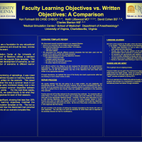 Faculty Learning Objectives vs. Written Objectives: A Comparison