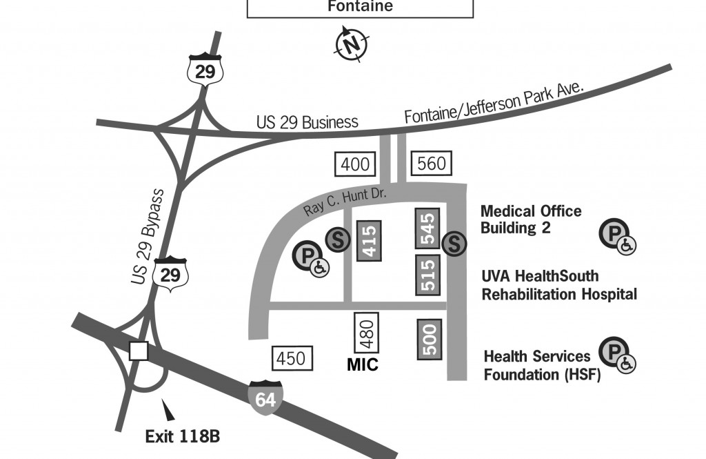 map of Fontaine Research Park showing M.I.C.