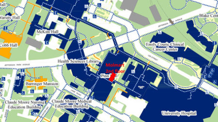 A Map location of Molmart