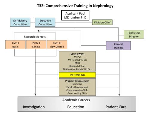 Diagram of T32 Training in Nephrology
