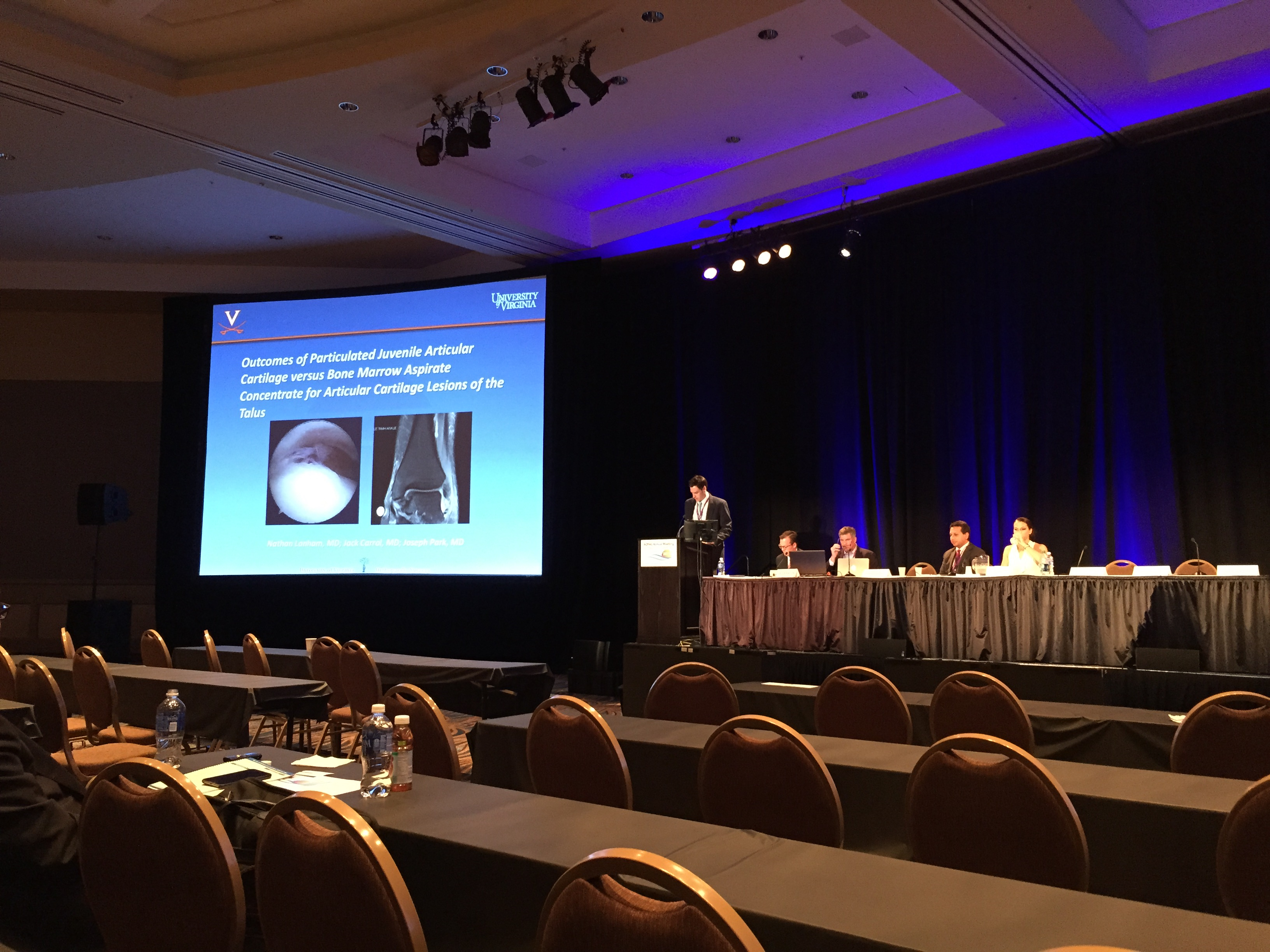 Beamer Carr presents his research at the AOFAS Annual Meeting in San Diego