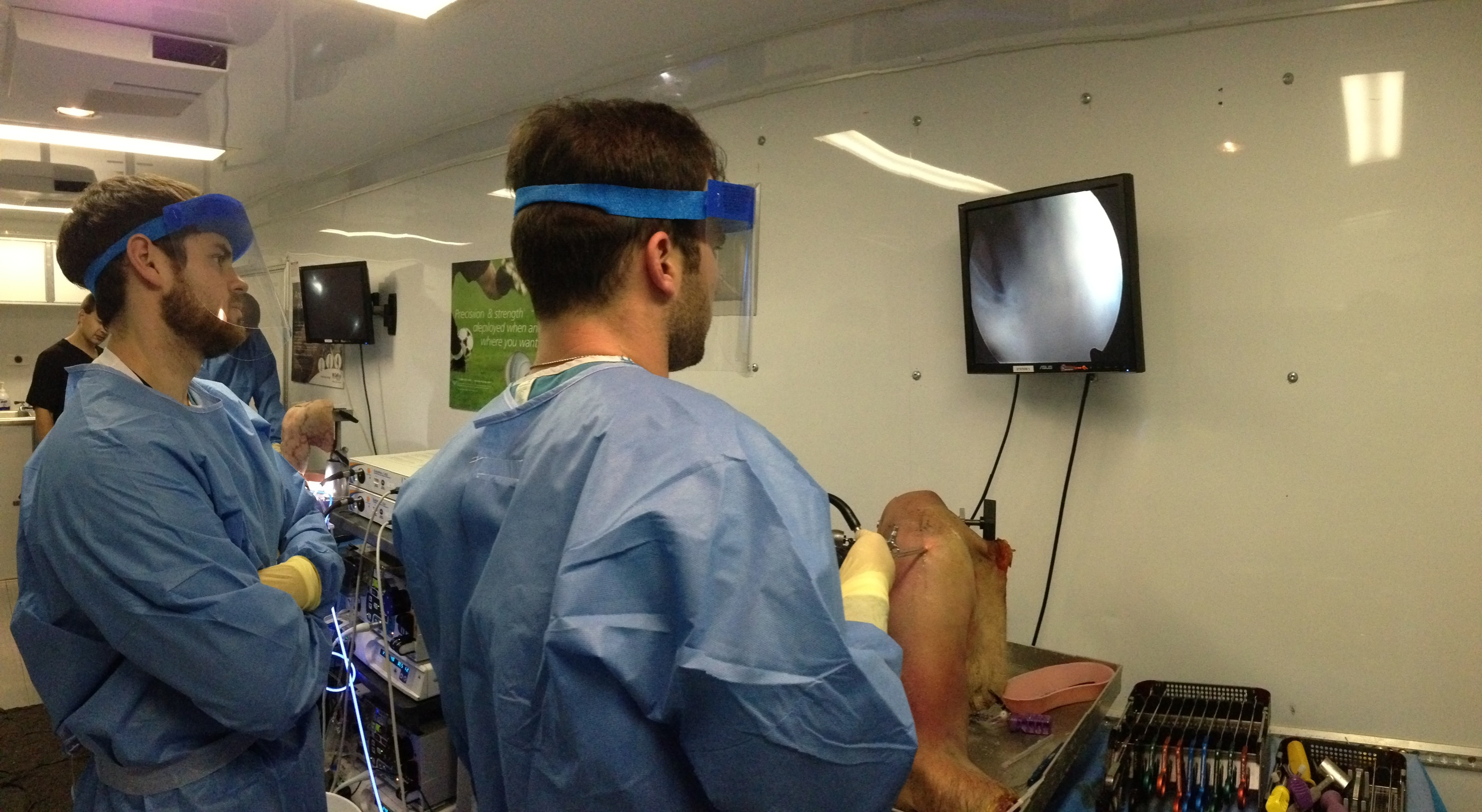 Jourdan Cancienne mastering arthroscopy.