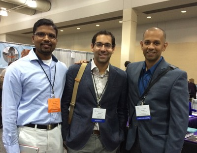 Sreeni Alla, Aaron Freilich, and Anjan Kaushik at the Hand Society in 2014