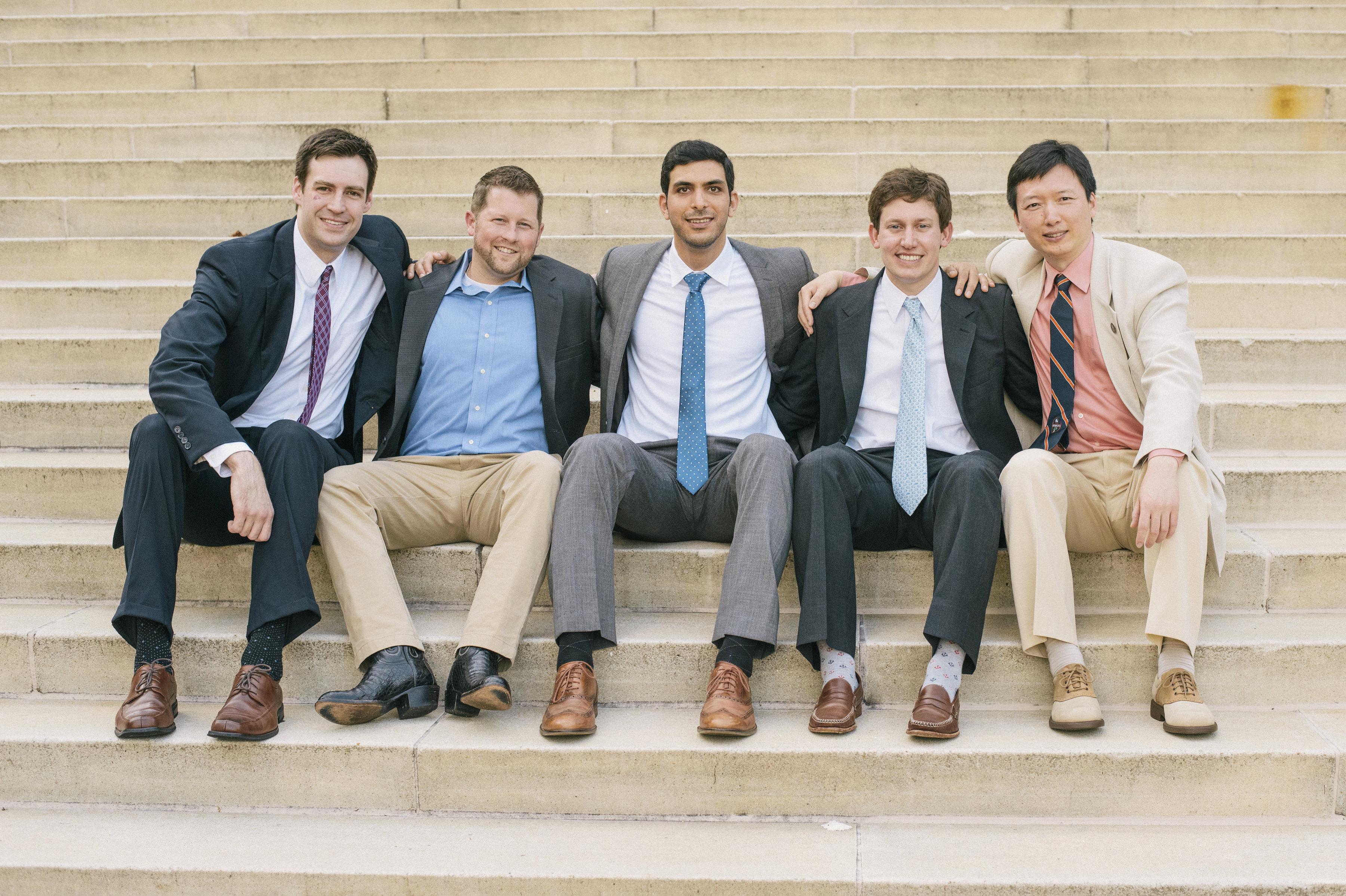 Chief residents 2015/16 - Nathan Lanham, Adam Wilson, Rahman Kandil, Tyrrell Burrus, and Josh Li