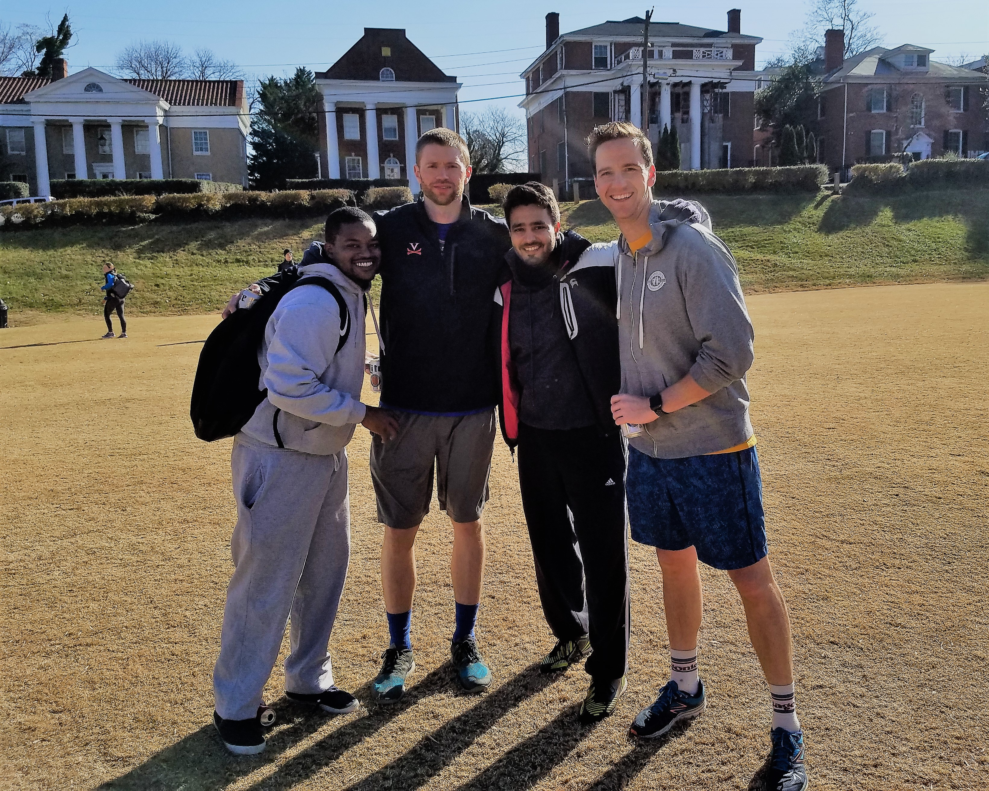 Kevin Laroche, Max Hoggard, Victor Anciano, and Eric Larson after the 2017 Turkey Bowl