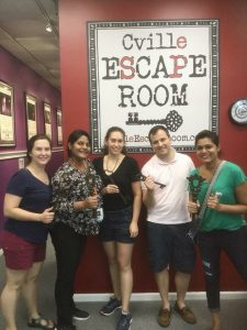 "2018 AP Bootcamp ""Graduation"" at the Cville Escape Room"