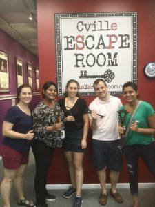 "2018 AP Bootcamp ""Graduation"" at the Cville Escape Room"