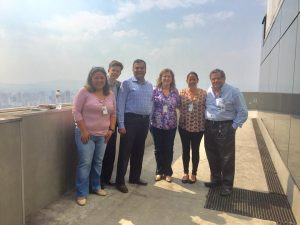 Dr. Balkrishnan (third from left) with colleagues of the Sao Paulo Cancer Center.