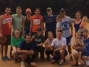 2015 Softball champs! team photo