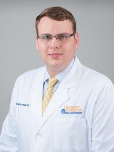 Radiation Oncology resident, Chris Luminais, MD
